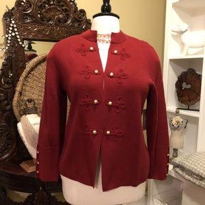 Chico's- NWT - sz 4 (20w) Red Knit Jacket